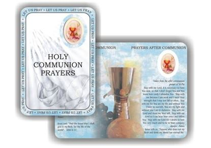 Picture of Holy Communion prayer booklet