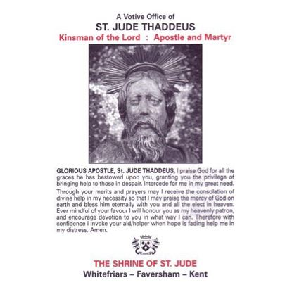 Picture of Saint Jude Votive Office booklet