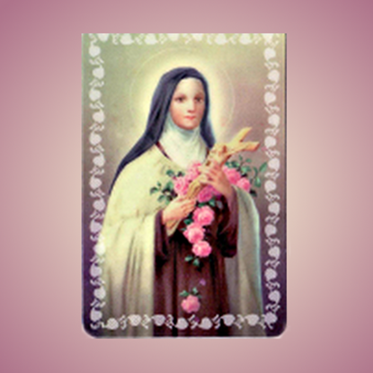 Picture of St Thérèse of Lisieux prayer card