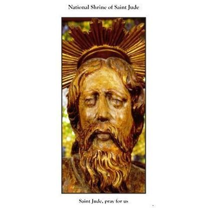 Picture of Shrine of Saint Jude bookmark with a prayer to Saint Jude
