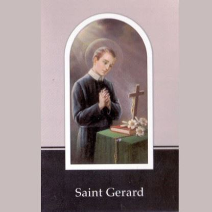 Picture of Saint Gerard Majella prayer booklet and relic medal