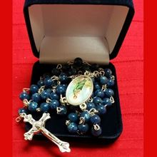 Picture of Saint Jude rosary - dark blue marble effect