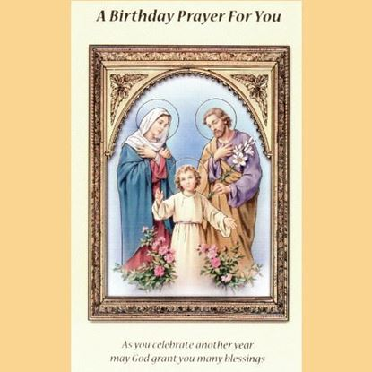 Picture of A Birthday Prayer for you card