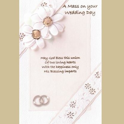 Picture of A Mass on your Wedding Day card