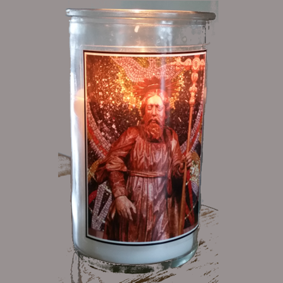 Picture of Saint Jude pillar candle