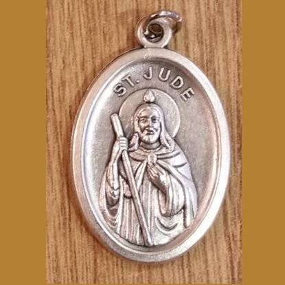 Picture of Saint Jude oxidised medal